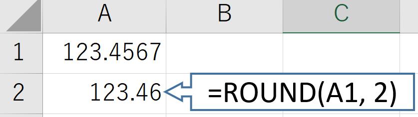 ExcelのROUND関数の使い方1