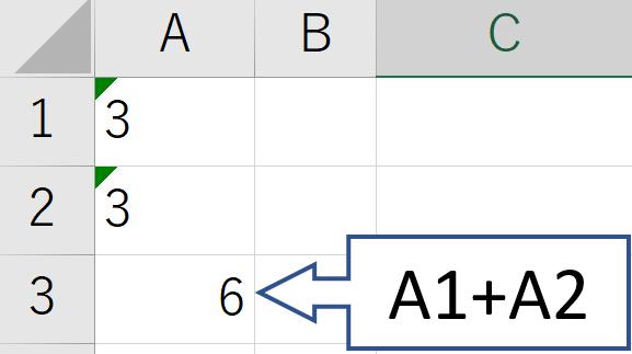 ExcelのVALUE関数の使い方1